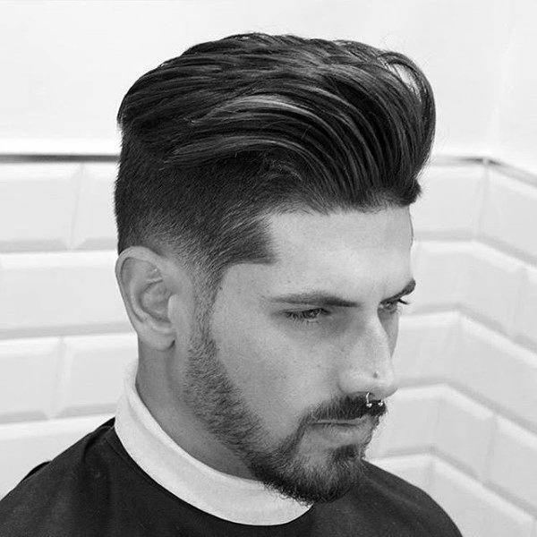 Quiff With Taper Fade Mens Hair Styles Medium Length