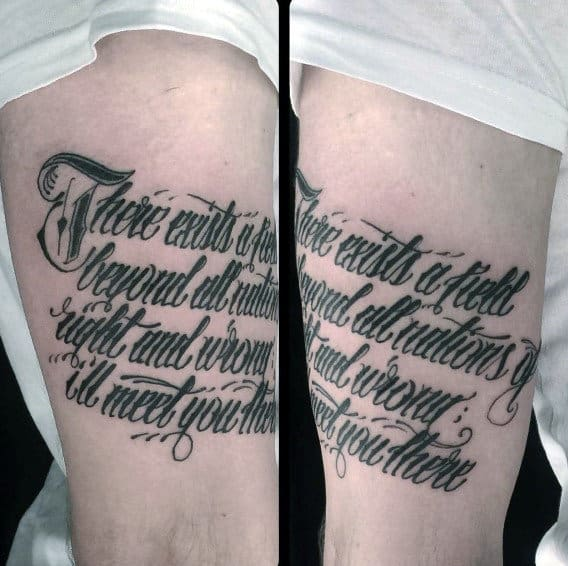 Quote Arm Script Tattoos For Guys