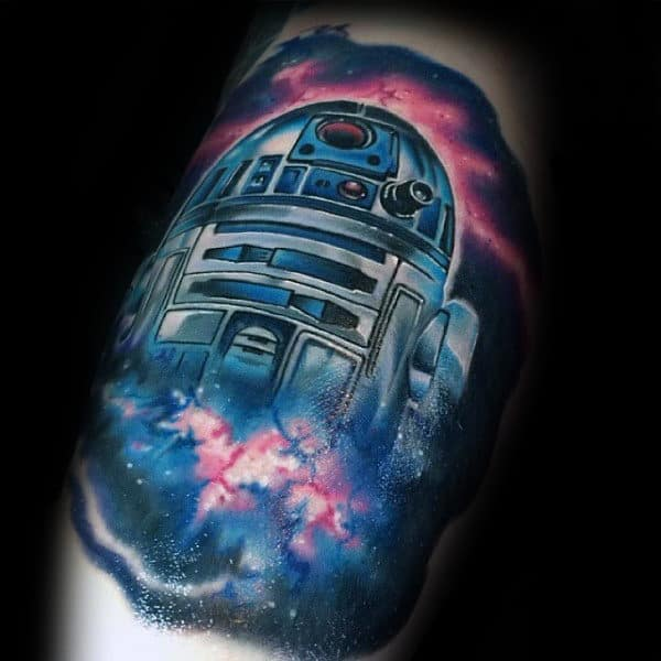 R2d2 Universe Star War Tattoo Male Forearms