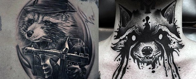 Raccoon Tattoo Designs For Men