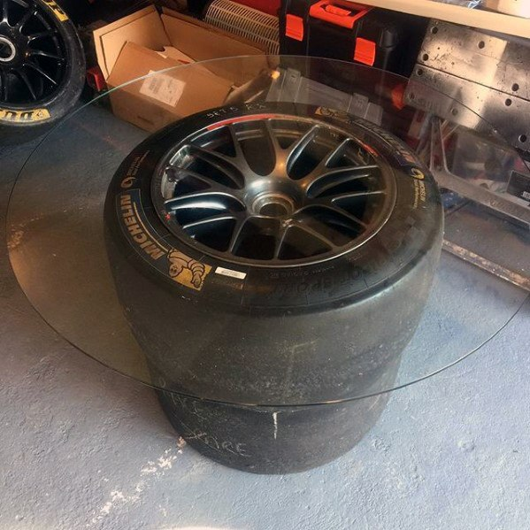 Racing Tire Rims Coffee Table Diy Man Cave Ideas