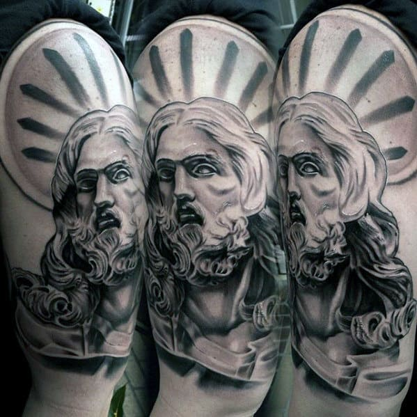 Radiant Jesus Guys Religious Arm Tattoos