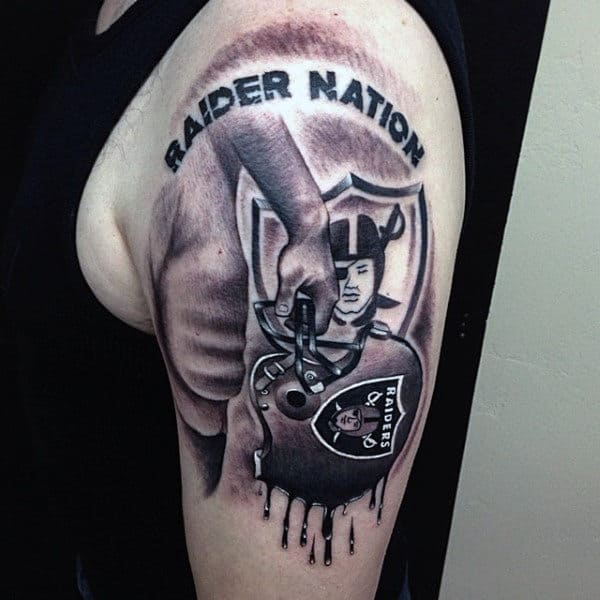 Radier Nation Guys Football Arm Tattoos