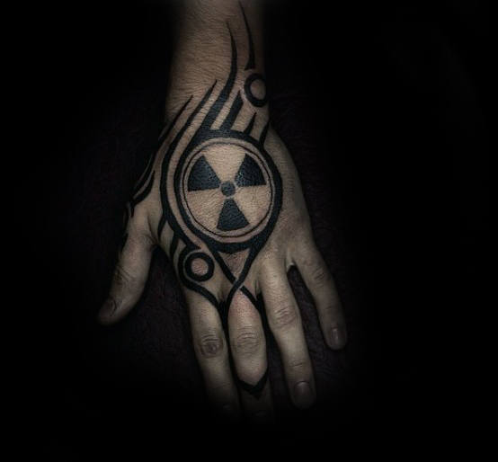 Radioactive Tribal And Tattoo Design For Guys