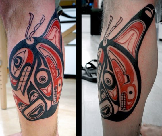 Raging Haida Tattoo Male Legs