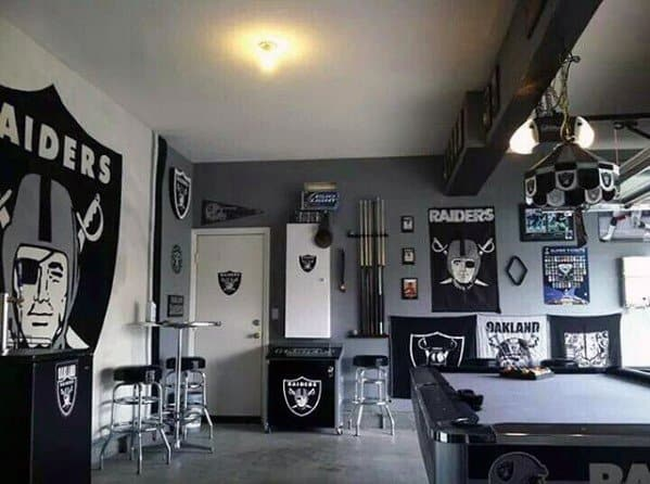 Raiders Football Themed Awesome Man Caves For Men