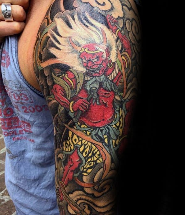 Raijin Male Tattoo Designs