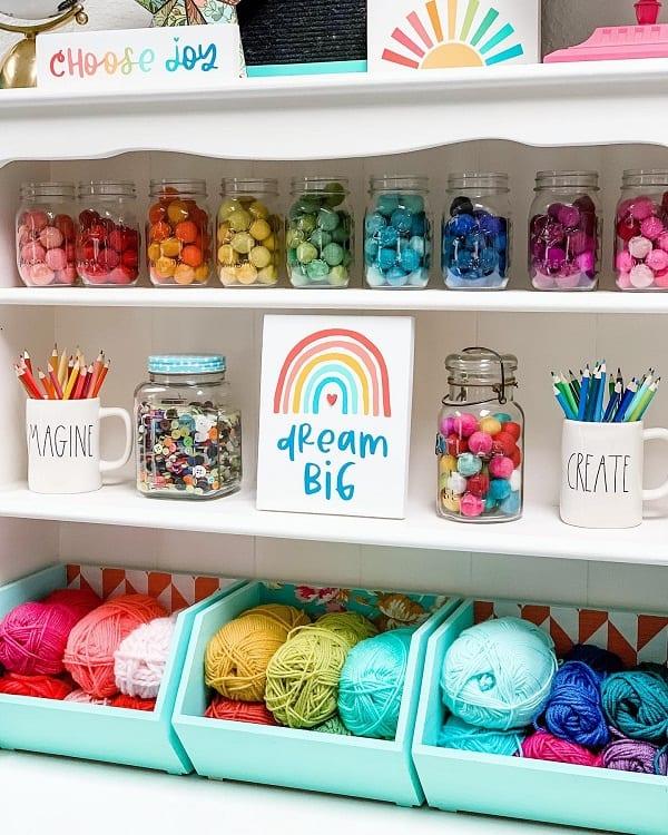 Rainbow Decor Craft Room