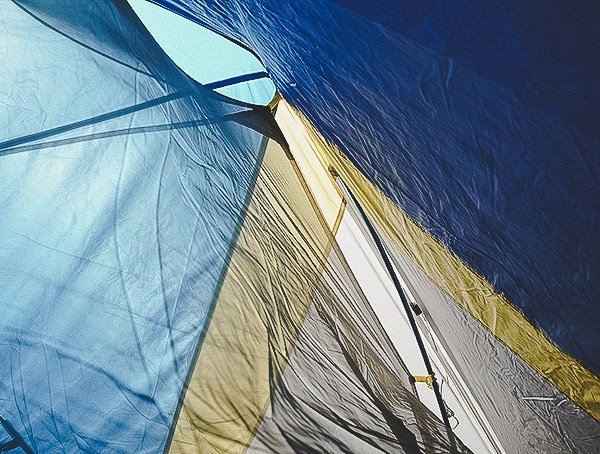 Rainfly Attached To Sierra Designs Sweet Suite 3 Tent