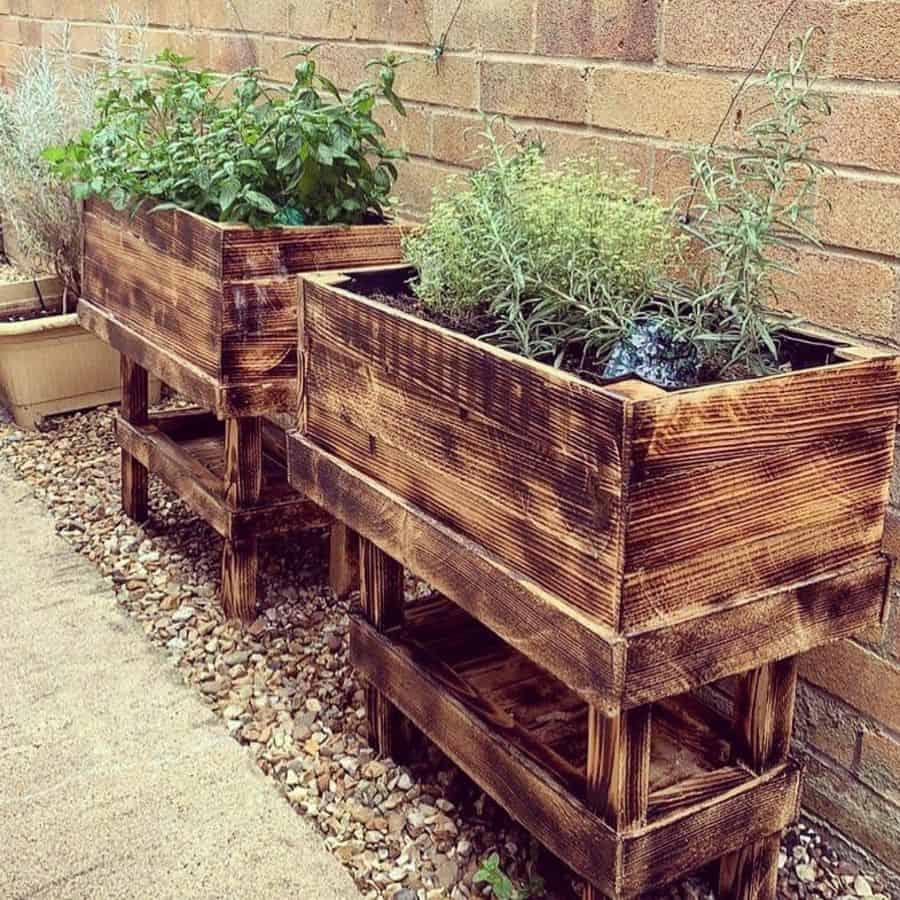 raised bed plant box pallet garden ideas nikkitapdesigns