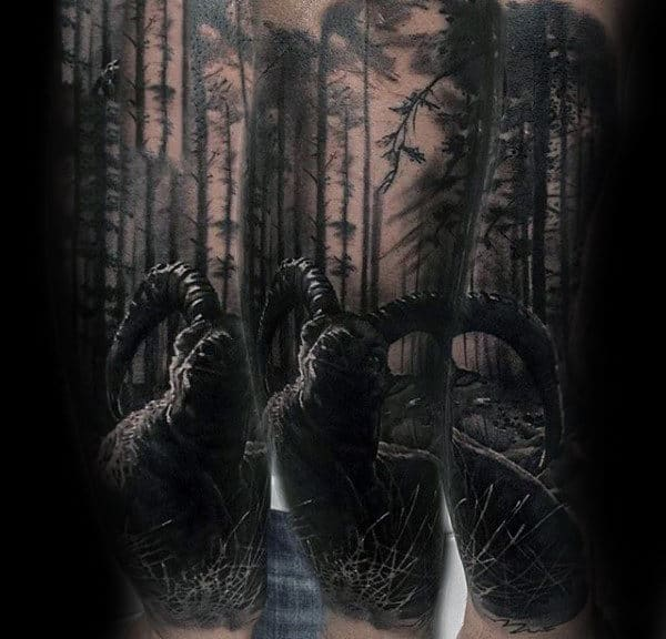 100 forest tattoo designs for men masculine tree ink ideas for Realistic tree tattoos