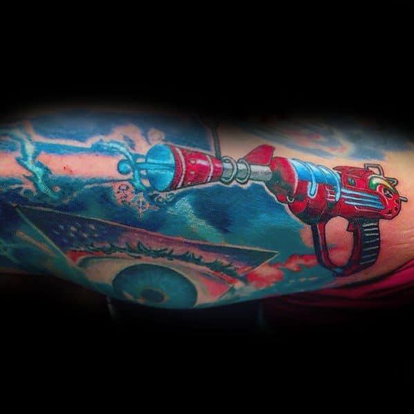 Ray Gun Call Of Duty Tattoo Design Ideas For Men