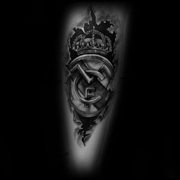 Real Madrid Guys Tattoo Ideas Leg