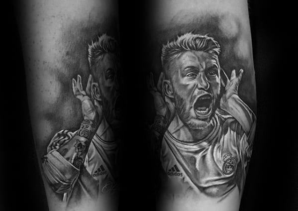 Real Madrid Tattoo Designs For Guys Leg