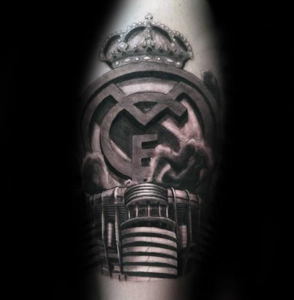 Real Madrid Tattoo Ideas On Guys Arm