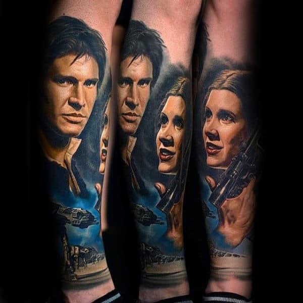 Real Star Wars Characters Tattoo Male Forearms