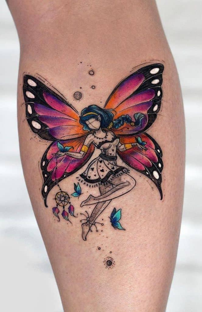 Real Work Art Magical Fairy Tattoo