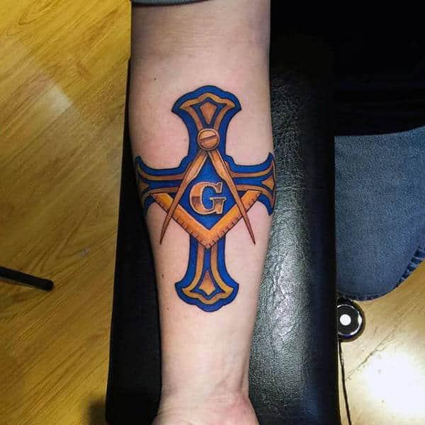 90 Masonic Tattoos For Men Freemasonry Ink Designs