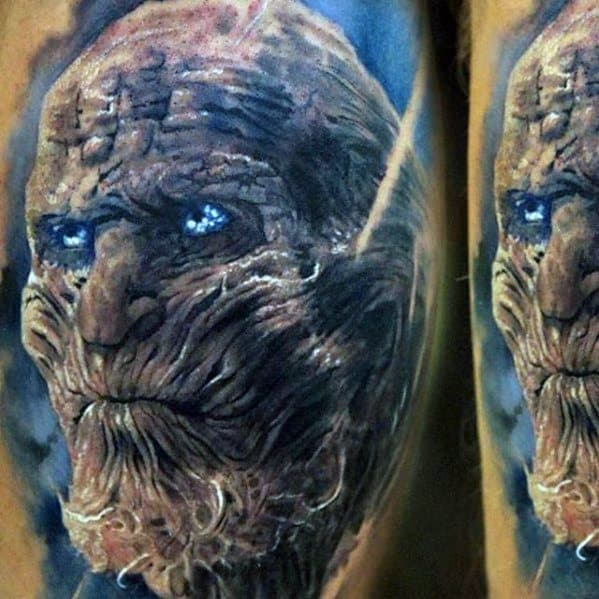 Realistic 3d Arm White Walker Cool Game Of Thrones Tattoo Design Ideas For Male