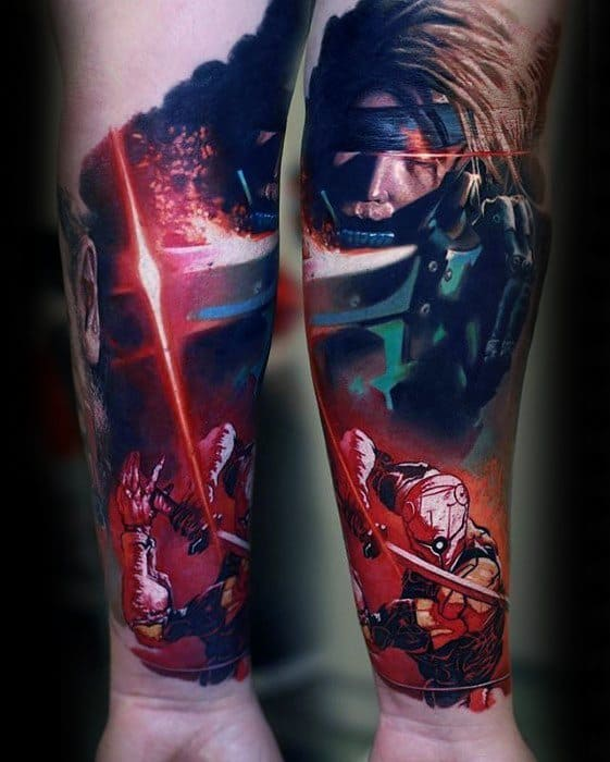 Realistic 3d Inner Forearm Cool Metal Gear Tattoo Design Ideas For Male