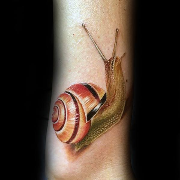 Realistic 3d Snail Tattoo Designs For Guys