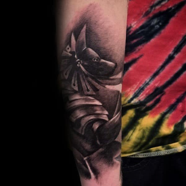 Realistic Anubis Forearm Tattoo On Gentleman
