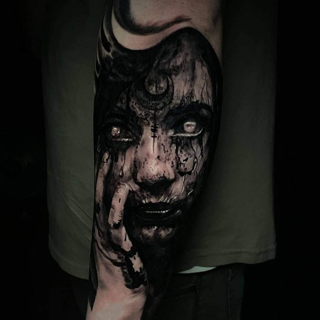 realistic black arm tattoo josecarlos.tattoos