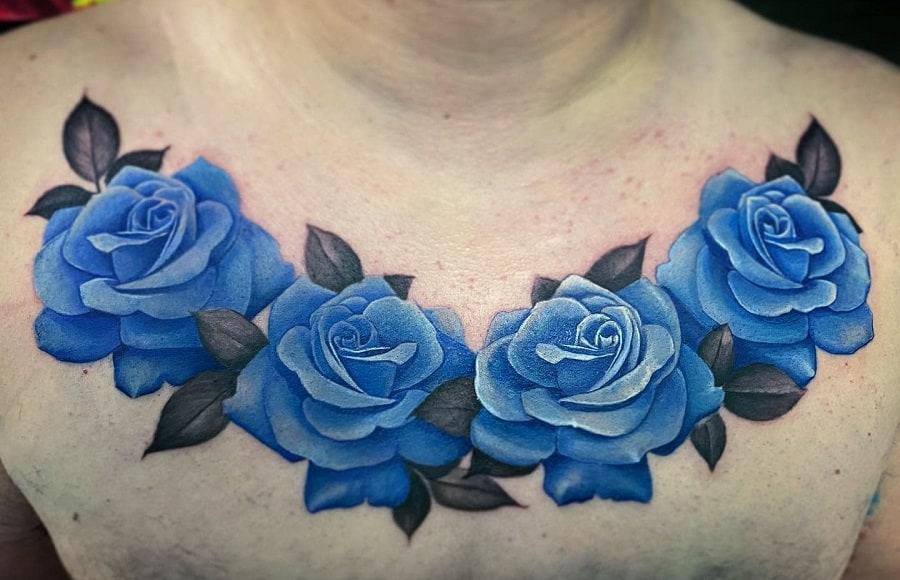 Top 81 Best Blue Rose Tattoo Ideas – [2021 Inspiration Guide]