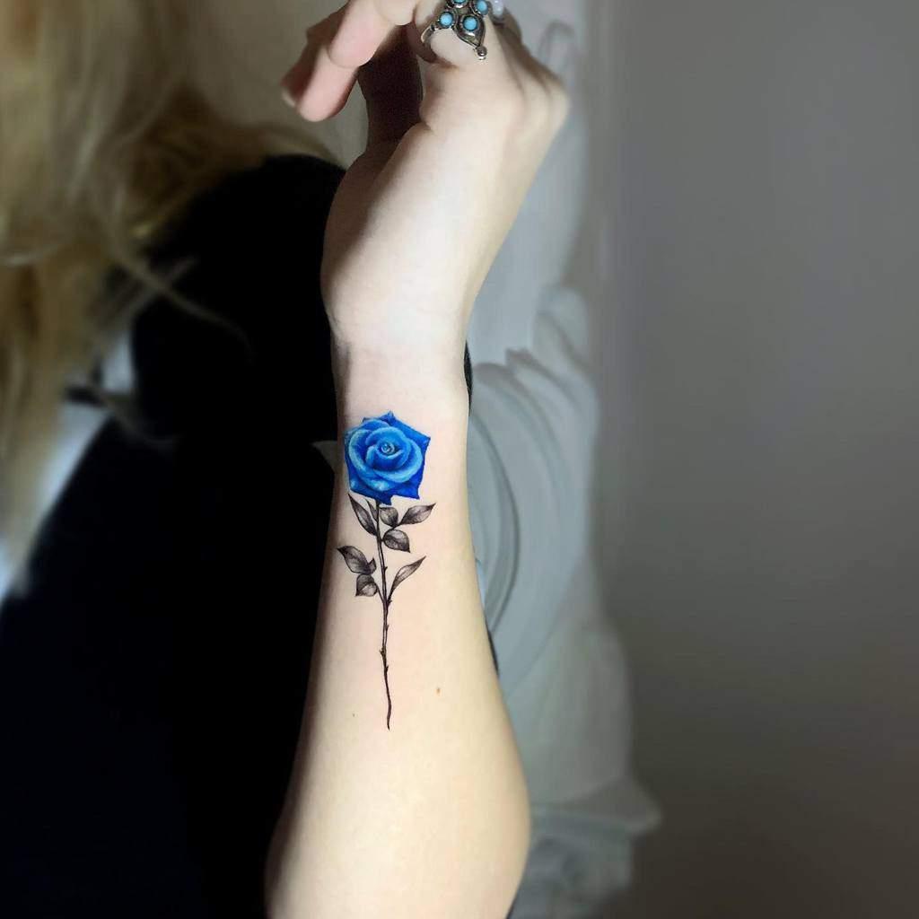 realistic blue rose tattoos malavida.tattoo