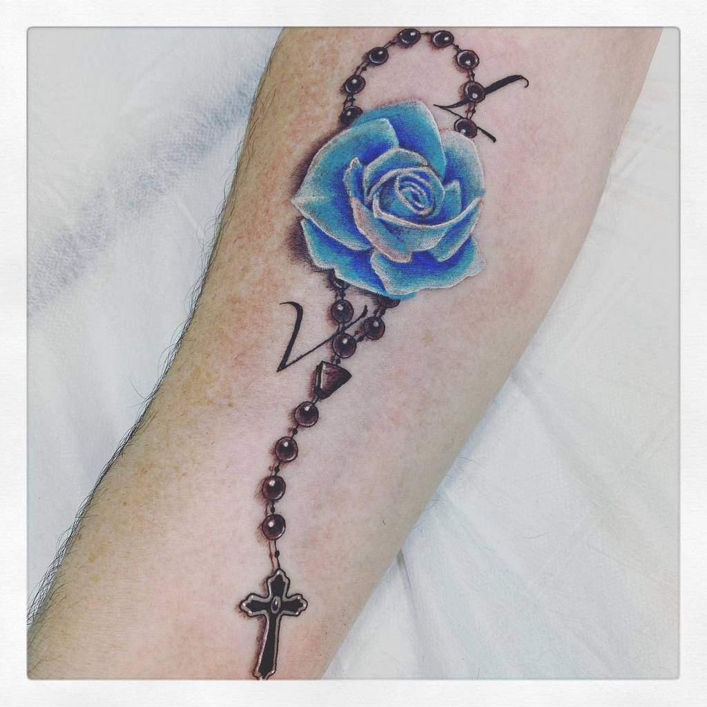realistic blue rose tattoos maycrime