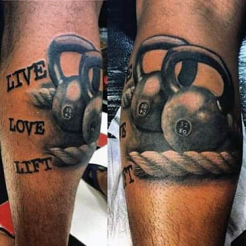 Realista contable Live Love Lift With Rope Mens Fitness Tattoo Ideas