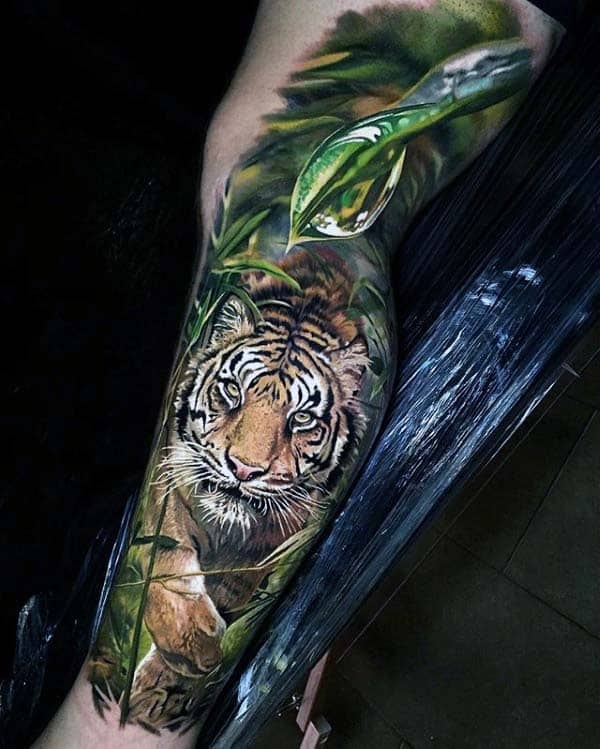 Realistic Extreme Full Leg Sleeve Mens 3d Tattoo Designs