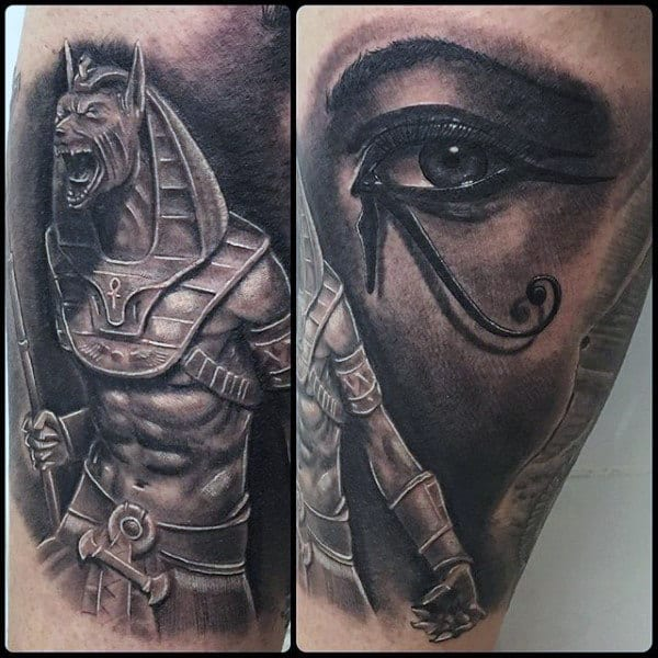 Realistic Eye Of Horus Mens Arm Tattoo