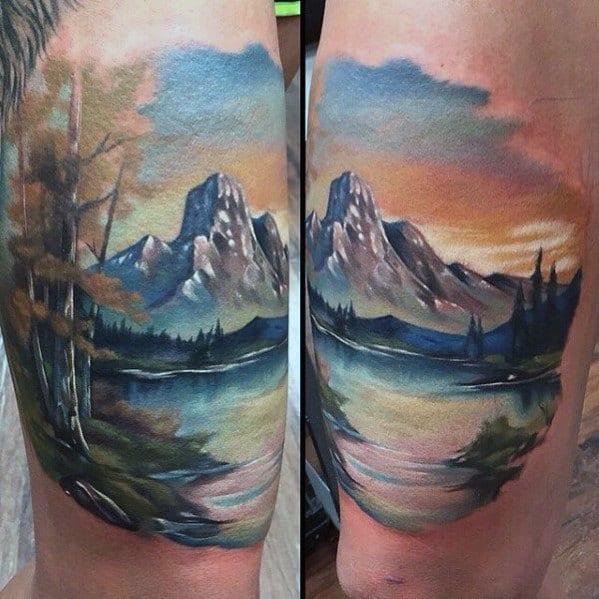 Realistic Guys Lake Tattoos