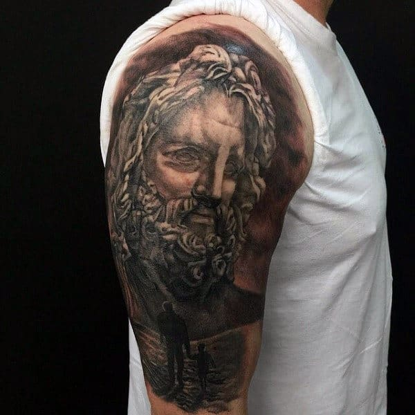 Realistic Guys Masculine Father And Son Tattoo Designs