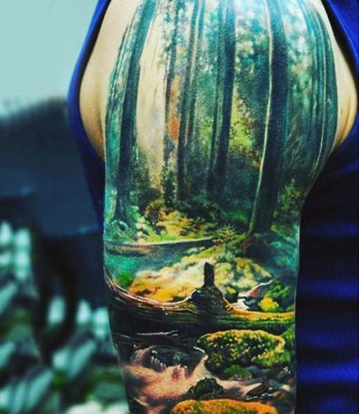 b386af7e7 100 Nature Tattoos For Men - Deep Great Outdoor Designs