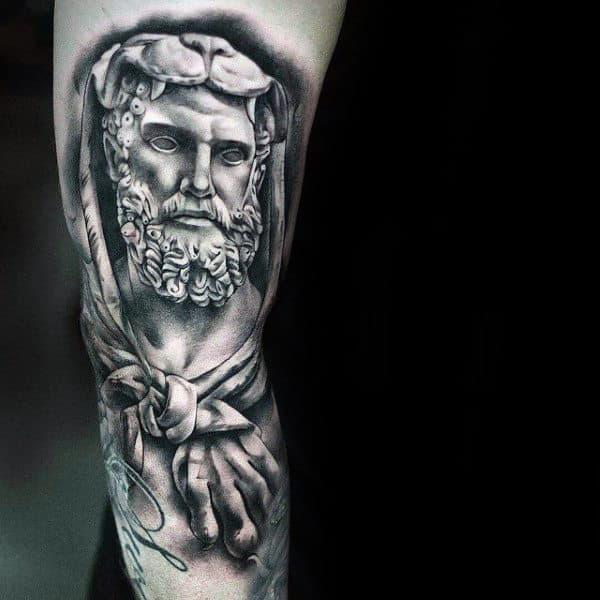 Realistic Hercules Mens Arm Tattoo Design Ideas