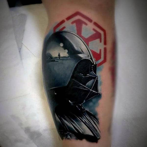 Realistic Incredible Detailed Video Game Leg Calf Tattoos For Guys