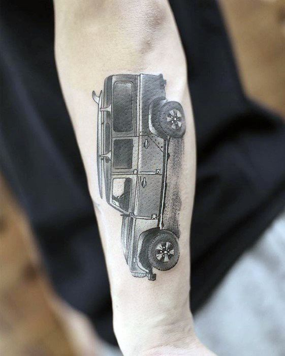 Realistic Jeep Mens Outer Forearm Small Unique Tattoos