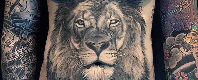 Realistic Lion Tattoo Designs For Men
