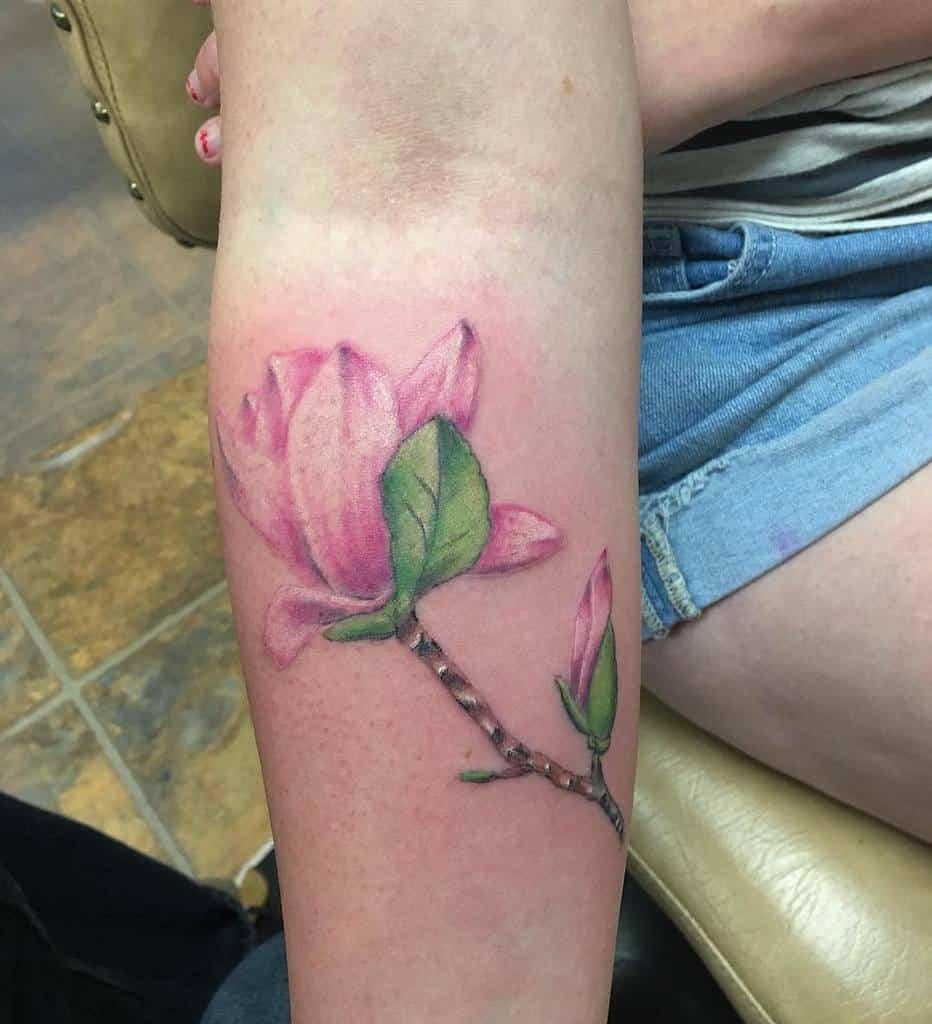 realistic magnolia tattoos whitemountaintattoo