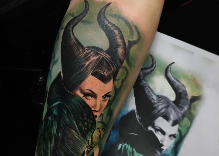 Top 65 Best Maleficent Tattoo Ideas – [2020 Inspiration Guide]