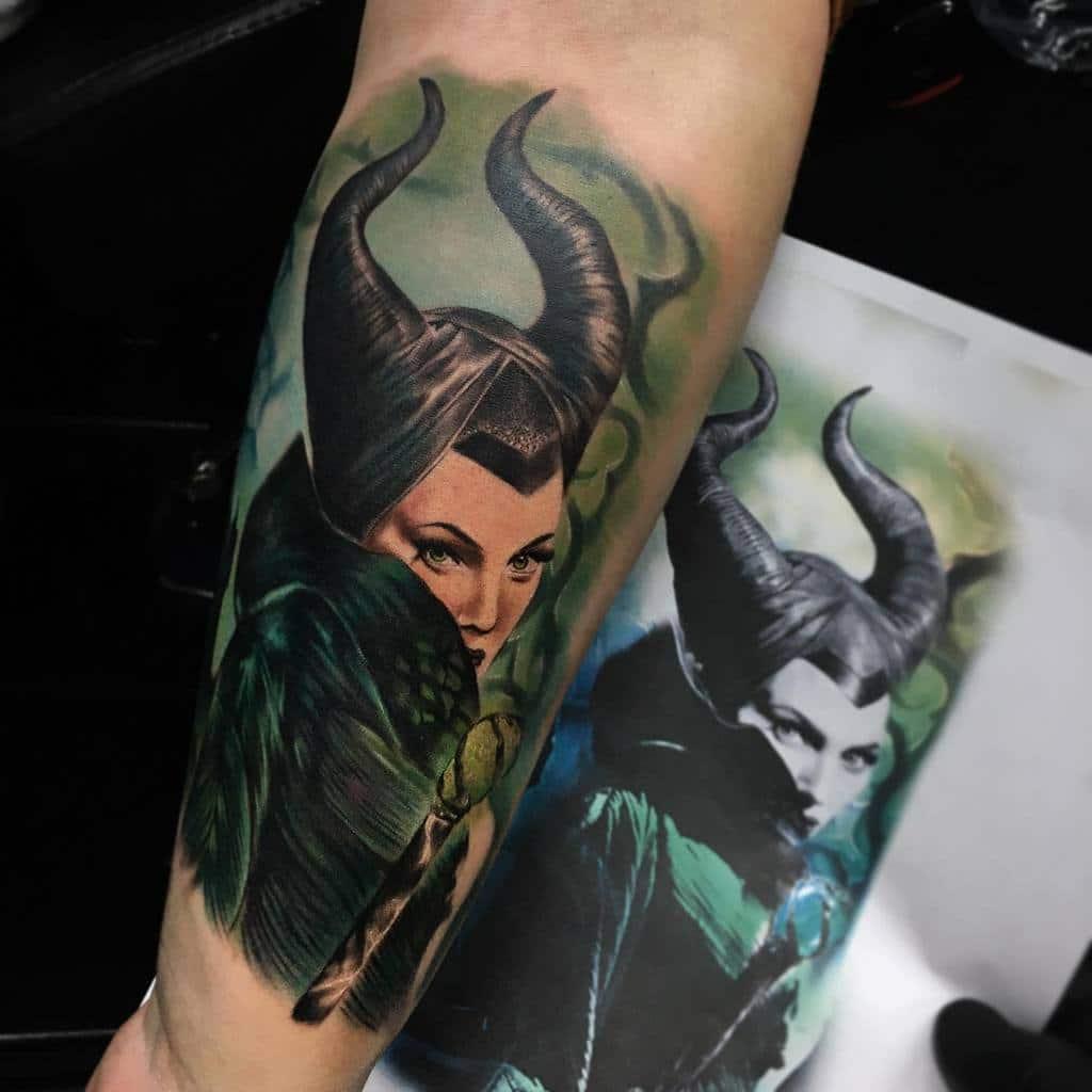 Realistic Maleficent Tattoos Klodidoda Tattooist