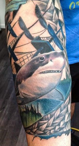 Realistic Men's Shark Tattoos