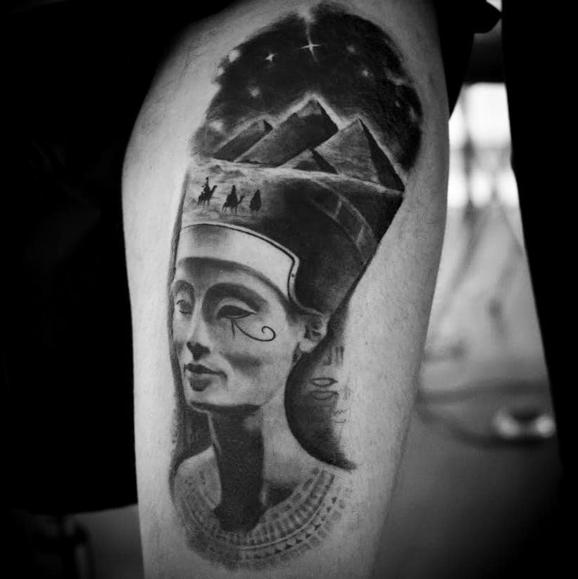 Realistic Nefertiti Tattoos Catalinm.zaharia