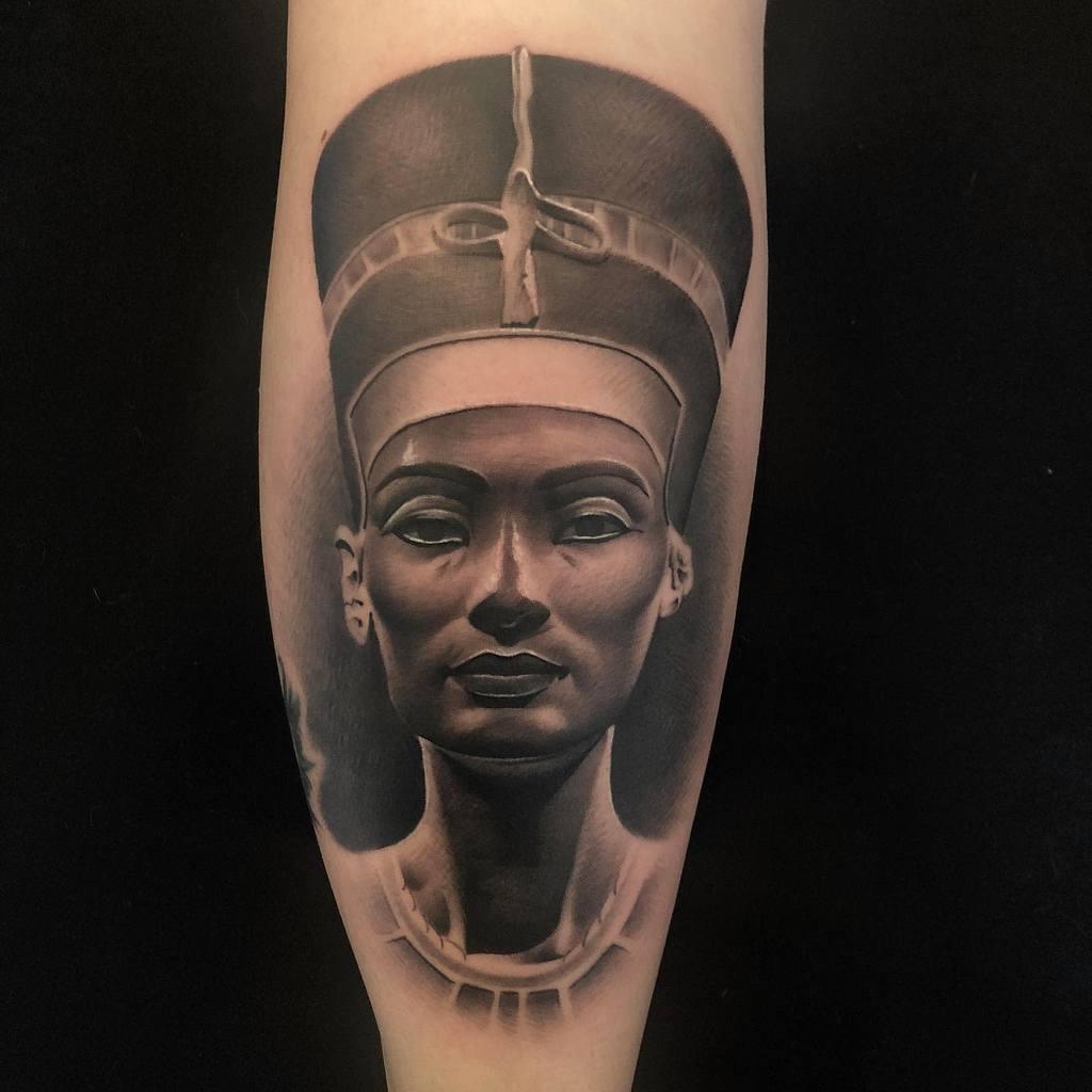 Realistic Nefertiti Tattoos Eddie Vamp Tattoos