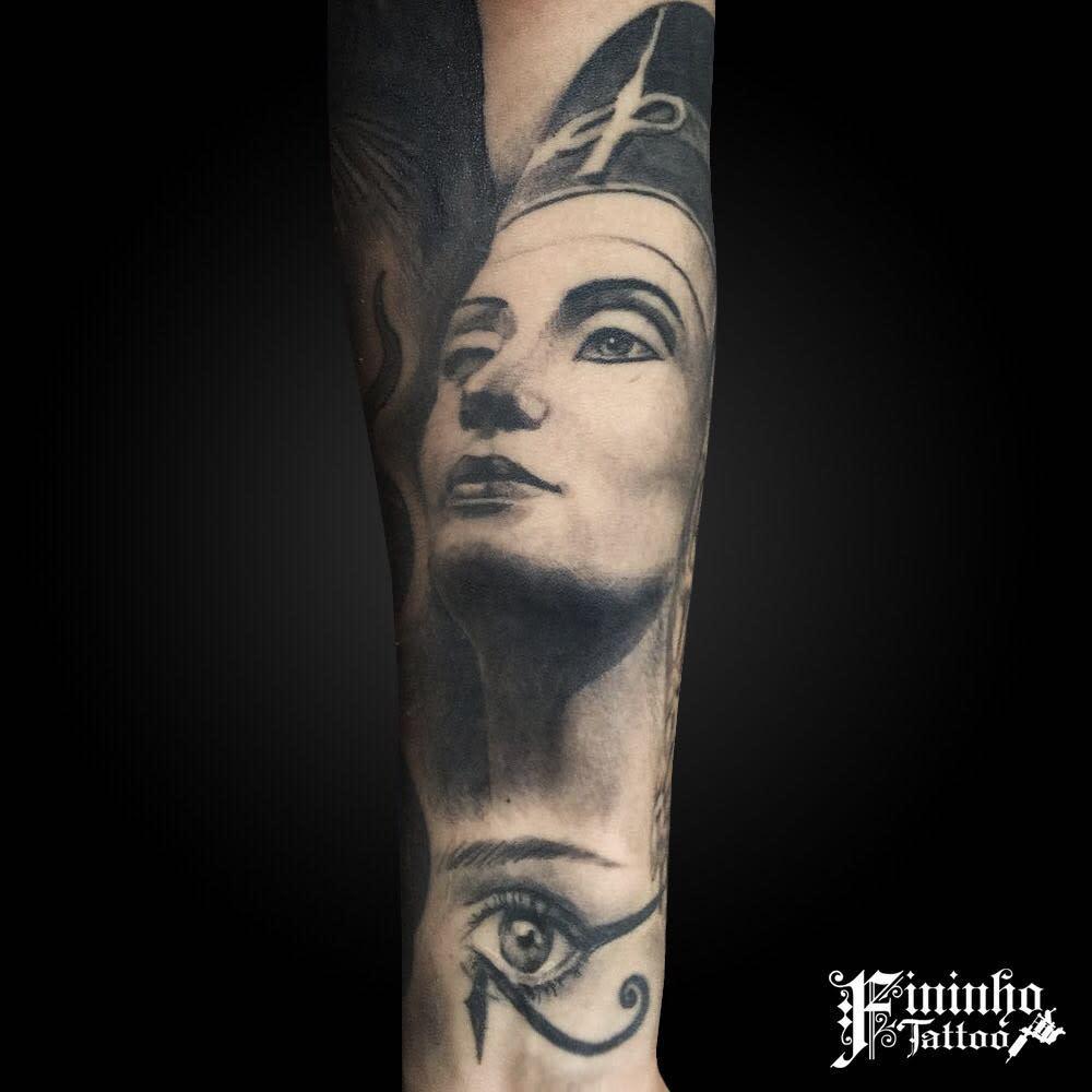 Realistic Nefertiti Tattoos Fininhotattoo