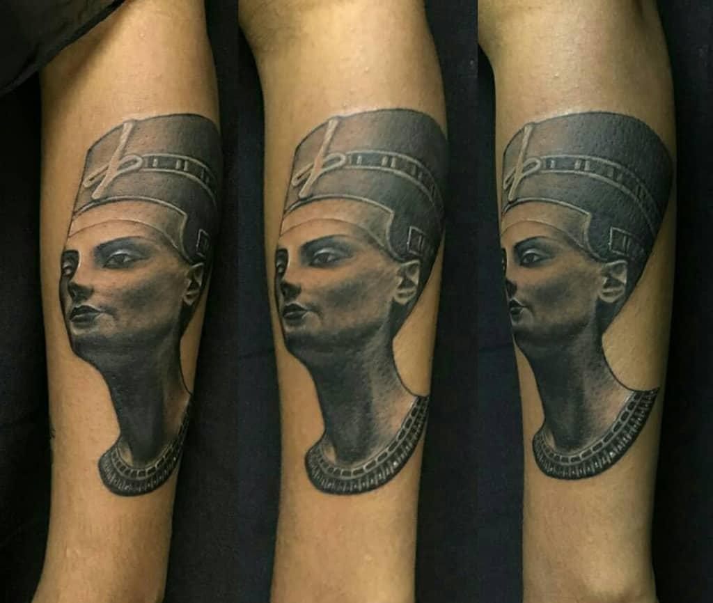 Realistic Nefertiti Tattoos Rafaelgamboa Tatuajes