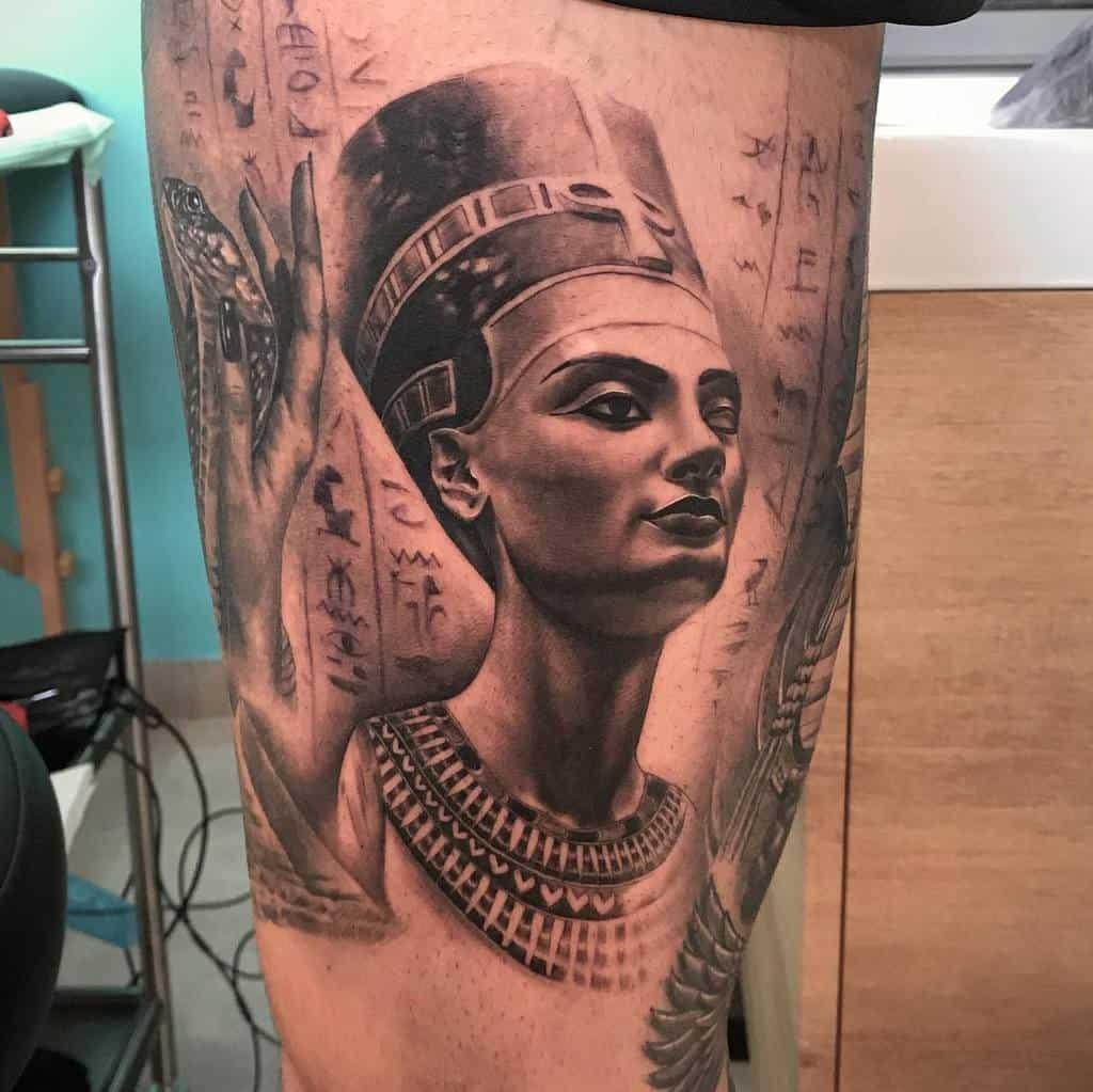 Realistic Nefertiti Tattoos Raquelrodrigueztattoo