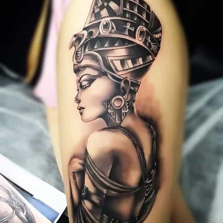 Realistic Nefertiti Tattoos True Vision Tattoo